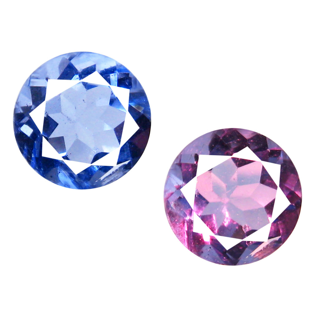 2.50 ct AAA FIVE-STAR ROUND SHAPE (8 X 8 MM) BLUE FLUORITE NATURAL GEMSTONE