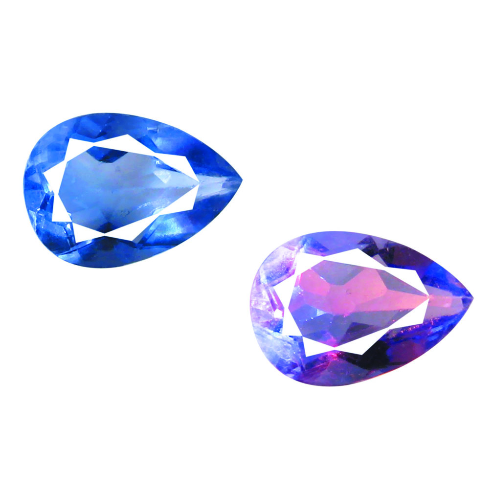 2.10 ct AAA EXQUISITE PEAR SHAPE (10 X 7 MM) BLUE FLUORITE NATURAL GEMSTONE
