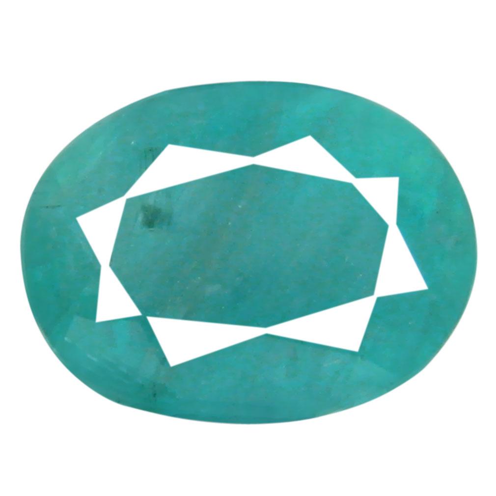 1.58 ct AAA Excellent Oval Shape (8 x 6 mm) Greenish Blue Grandidierite Natural Gemstone