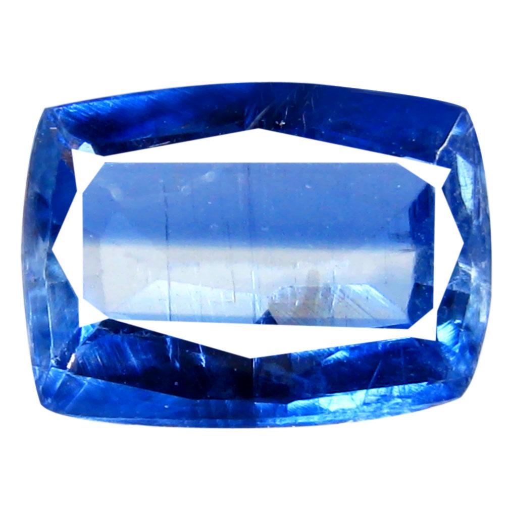1.26 ct AA+ Grand looking Cushion Shape (8 x 6 mm) Blue Kyanite Natural Gemstone