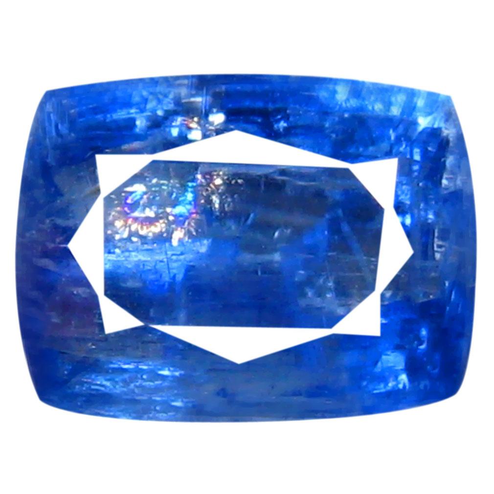 1.91 ct AA+ Super-Excellent Cushion Shape (8 x 6 mm) Blue Kyanite Natural Gemstone