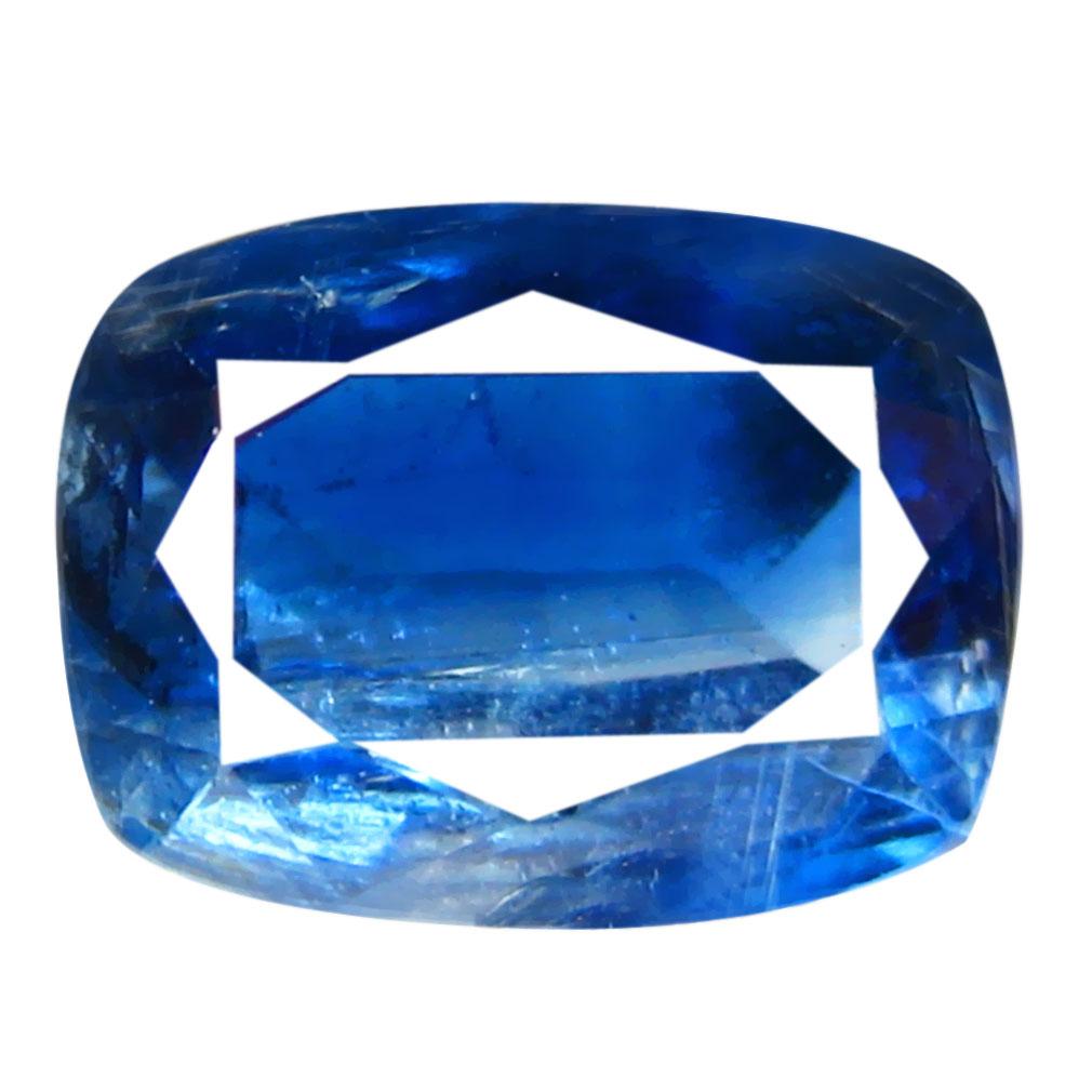 1.71 ct AA+ Superior Cushion Shape (8 x 6 mm) Blue Kyanite Natural Gemstone