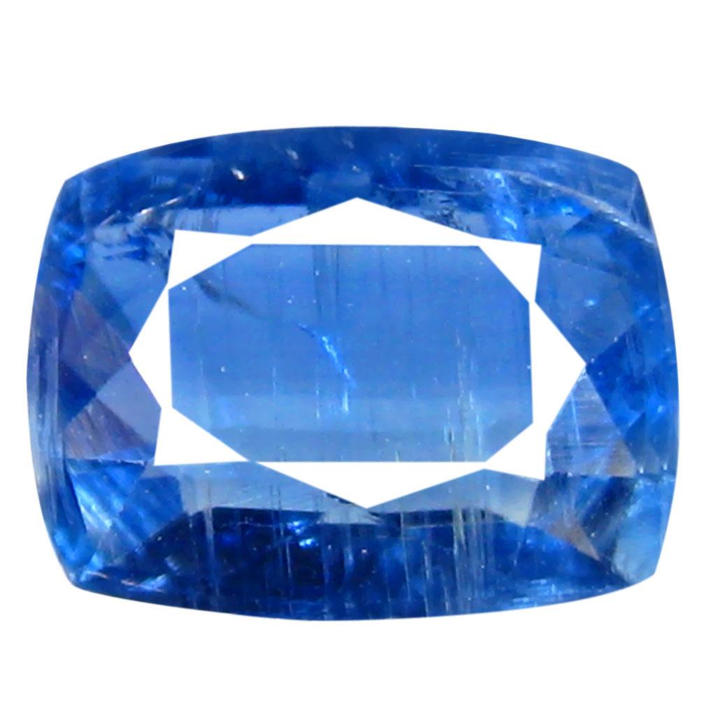 1.39 ct AA+ Very good Cushion Shape (8 x 6 mm) Blue Kyanite Natural Gemstone