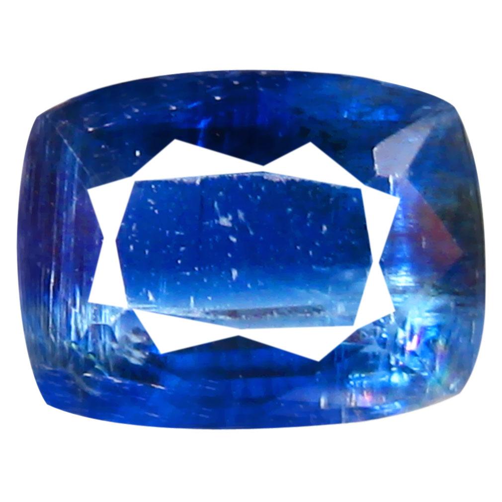 2.06 ct AA+ Shimmering Cushion Shape (8 x 6 mm) Blue Kyanite Natural Gemstone