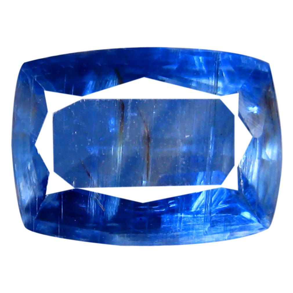 1.61 ct AA+ Marvelous Cushion Shape (8 x 6 mm) Blue Kyanite Natural Gemstone