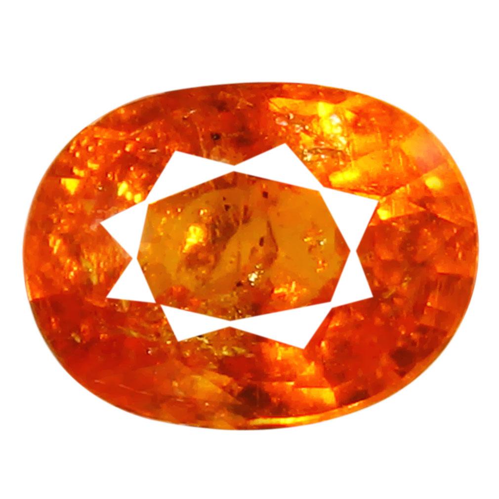 1.29 ct AAA Magnificent fire Oval Shape (7 x 5 mm) Fanta Orange Spessartine Natural Gemstone