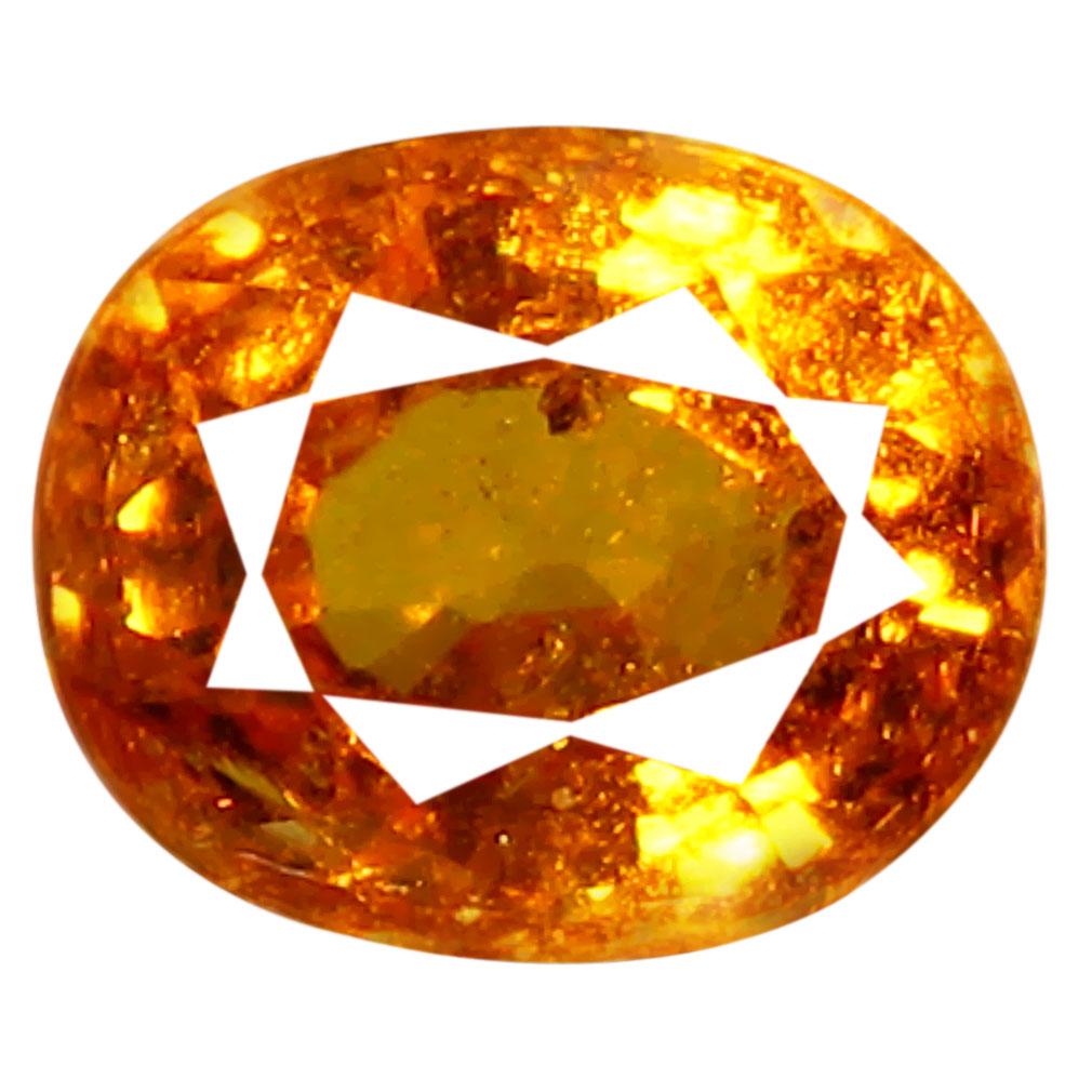 1.05 ct AAA Topnotch Oval Shape (6 x 5 mm) Fanta Orange Spessartine Natural Gemstone
