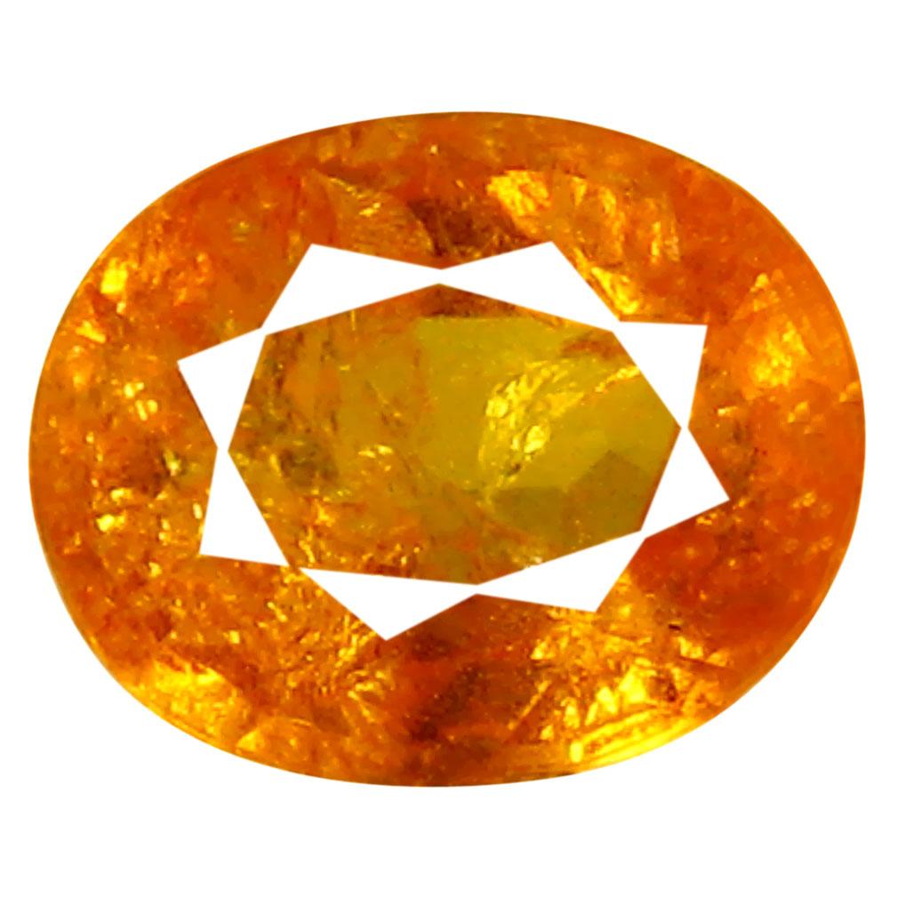 1.65 ct AAA Magnificent Oval Shape (8 x 6 mm) Fanta Orange Spessartine Natural Gemstone