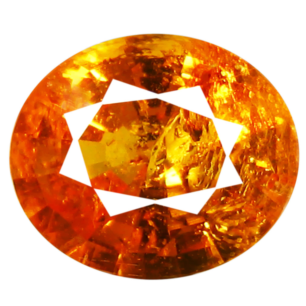 1.68 ct AAA Eye-popping Oval Shape (8 x 6 mm) Fanta Orange Spessartine Natural Gemstone