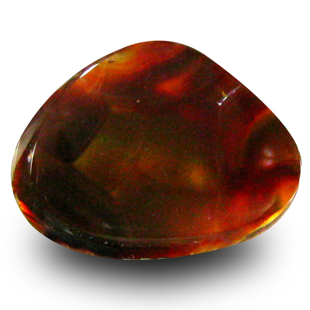 3.93 ct Flashing Fancy Cut (14 x 11 mm) Un-Heated Multi Color Fire Agate Natural Gemstone