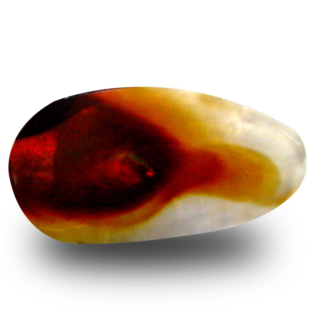4.04 ct Marvelous Fancy Cut (17 x 9 mm) Un-Heated Multi Color Fire Agate Natural Gemstone
