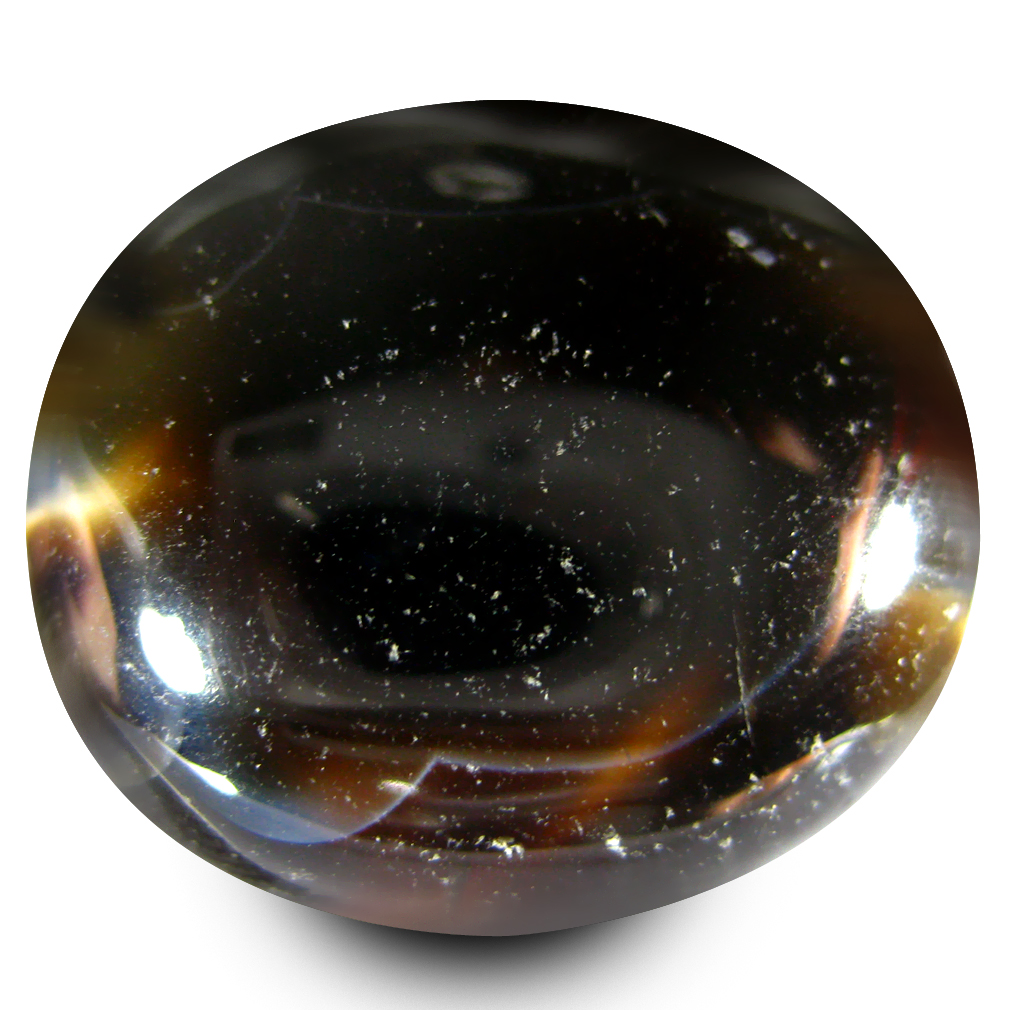 35.56 ct Oval Cabochon Shape Mesmerizing Scenic Patterns Banded Agate Natural Crystals