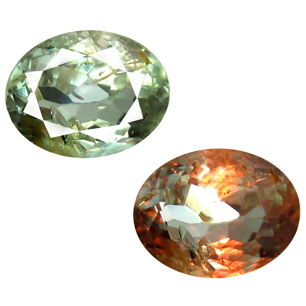 0.83 ct VERY GOOD OVAL SHAPE (6 X 5 MM) UN-HEATED COLOR CHANGE ALEXANDRITE NATURAL GEMSTONE