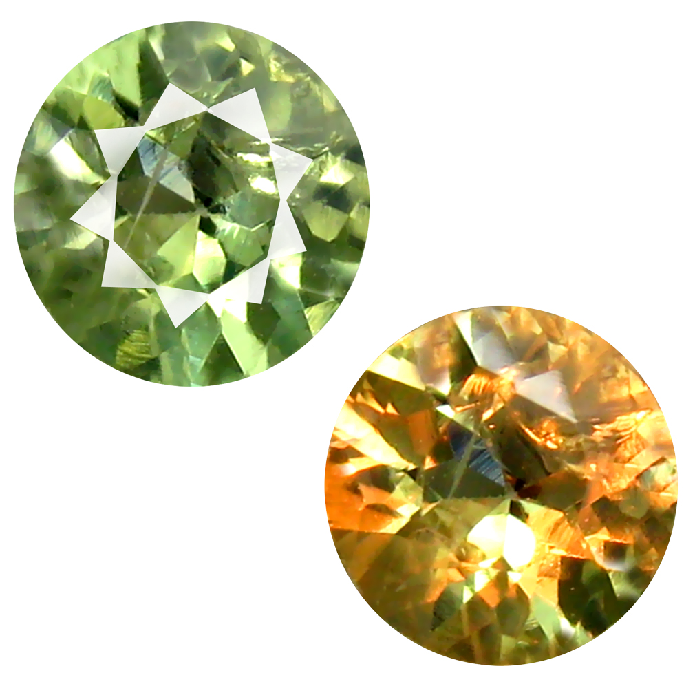 0.48 ct EYE-OPENING ROUND SHAPE (5 X 5 MM) UN-HEATED COLOR CHANGE ALEXANDRITE NATURAL GEMSTONE
