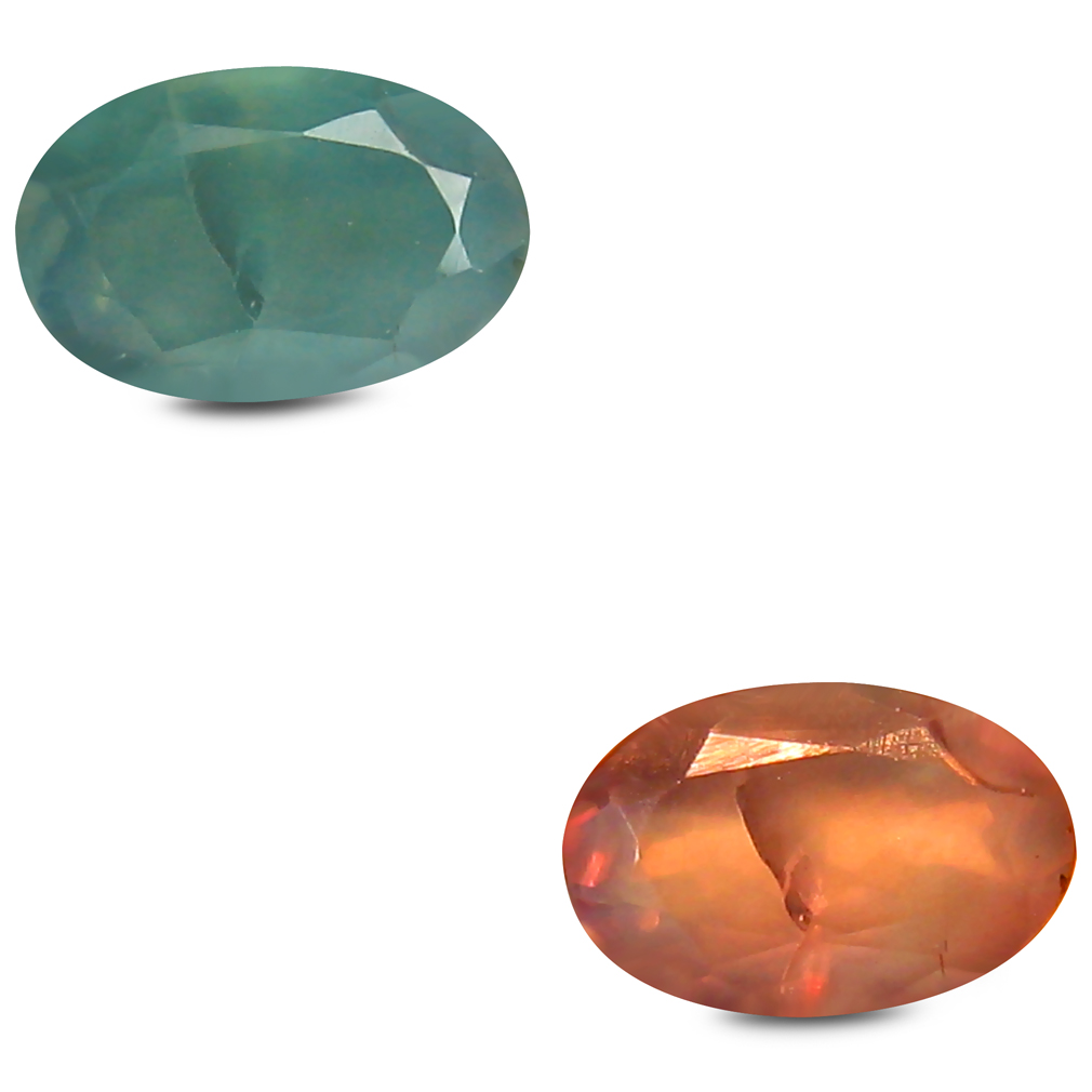 0.47 ct Very good Oval Shape (6 x 4 mm) Un-Heated Color Change Alexandrite Natural Gemstone