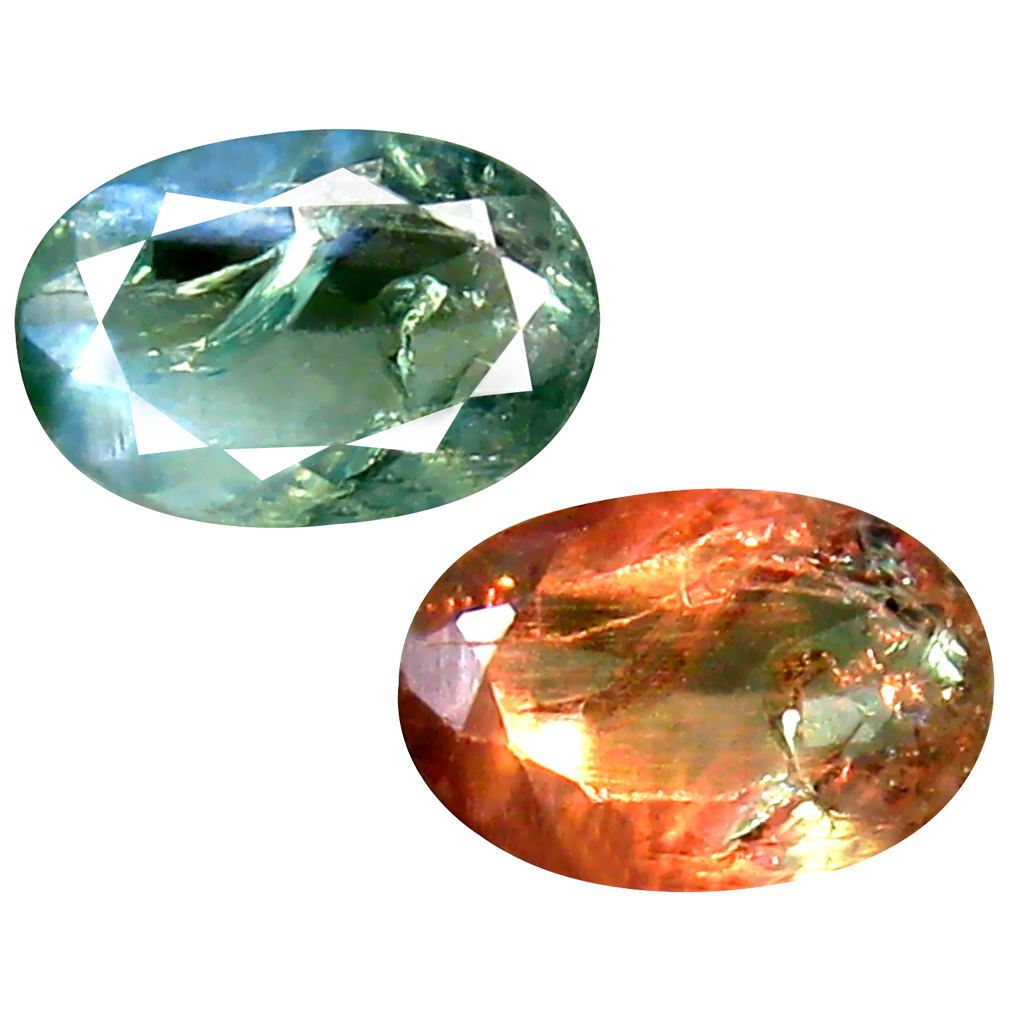 0.43 ct SPARKLING OVAL SHAPE (6 X 4 MM) 100% NATURAL (UN-HEATED) COLOR CHANGE ALEXANDRITE NATURAL GEMSTONE