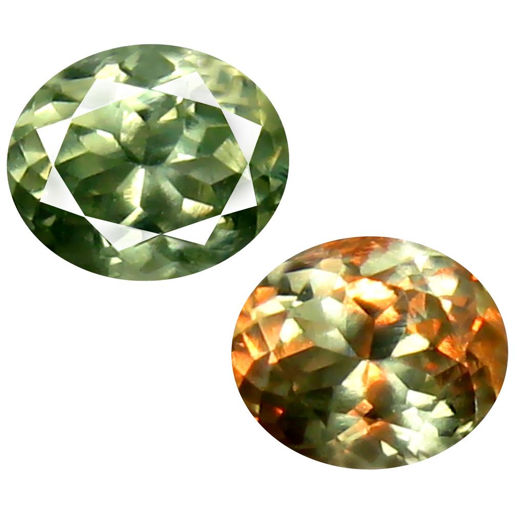 0.54 ct Valuable Oval Cut (5 x 4 mm) Un-Heated Green Alexandrite Natural Gemstone