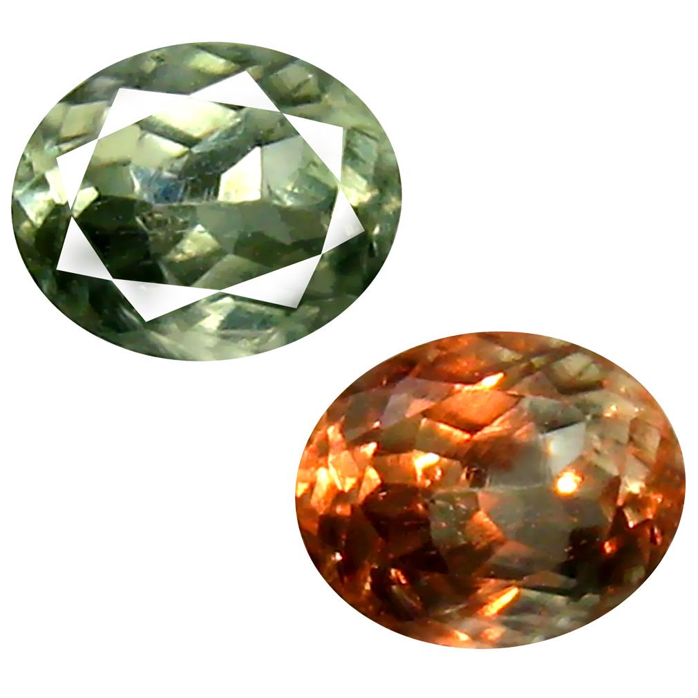 0.54 ct Remarkable Oval Cut (5 x 4 mm) Un-Heated Green Alexandrite Natural Gemstone