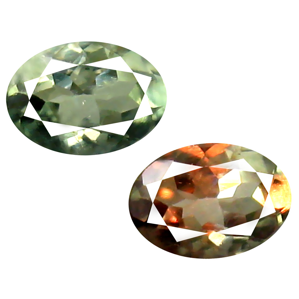 0.55 ct Incomparable Oval Cut (6 x 4 mm) Un-Heated Green Alexandrite Natural Gemstone