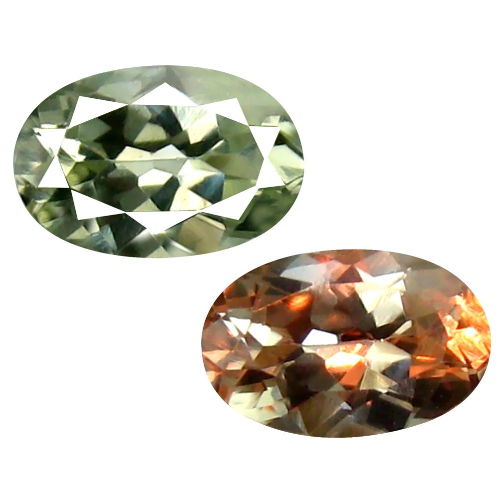 0.53 ct Outstanding Oval Cut (6 x 4 mm) Un-Heated Green Alexandrite Natural Gemstone