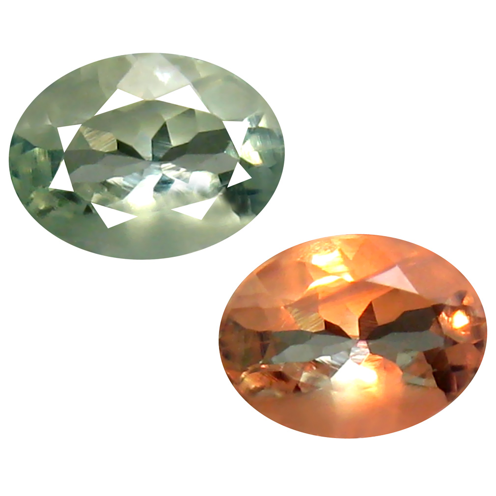 0.72 ct Superior Oval Cut (7 x 5 mm) Un-Heated Green Alexandrite Natural Gemstone