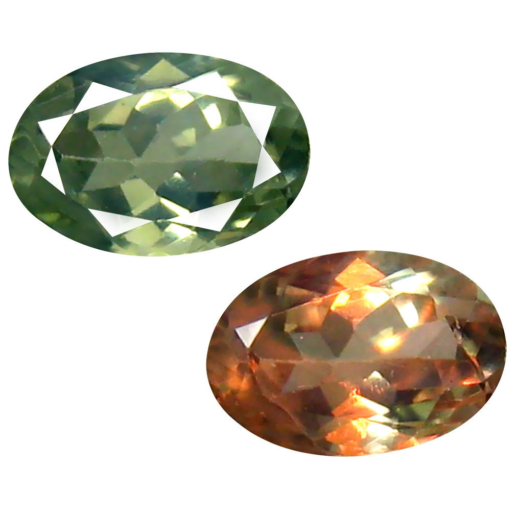 0.64 ct Superior Oval Cut (6 x 4 mm) Un-Heated Green Alexandrite Natural Gemstone