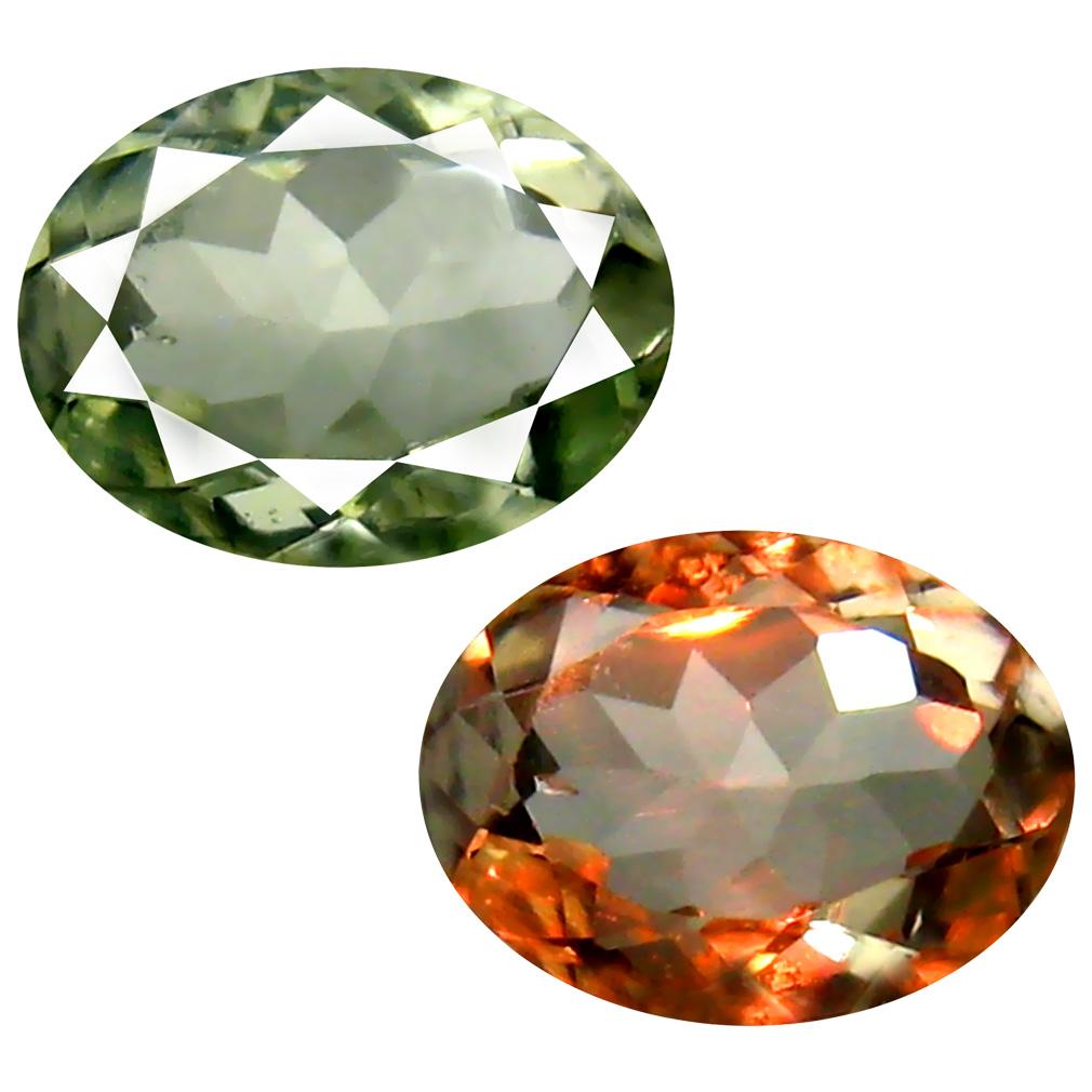 0.71 ct Resplendent Oval Cut (7 x 5 mm) Un-Heated Green Alexandrite Natural Gemstone