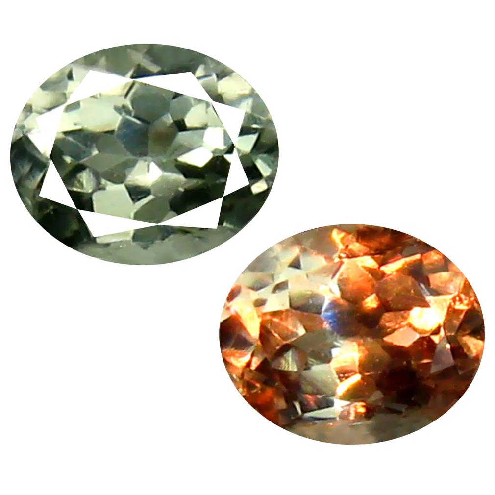 0.53 ct Excellent Oval Cut (5 x 4 mm) Un-Heated Green Alexandrite Natural Gemstone