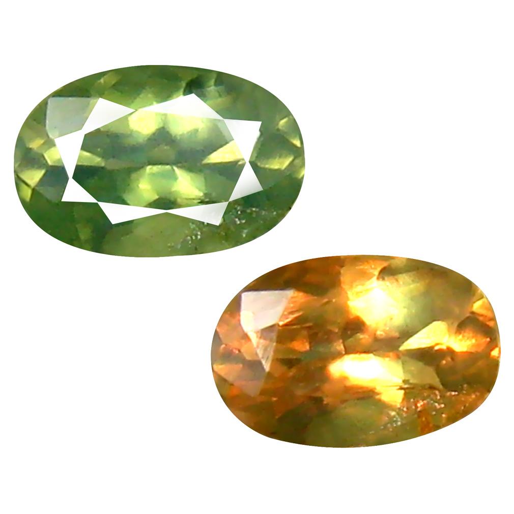 0.45 ct Shimmering Oval Cut (6 x 4 mm) Un-Heated Green Alexandrite Natural Gemstone