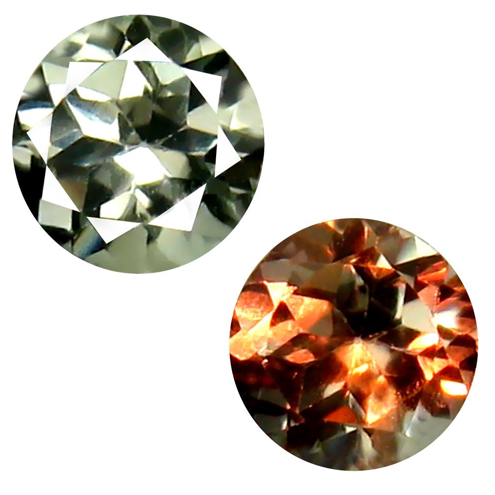 0.45 ct Valuable Round Cut (5 x 5 mm) Un-Heated Green Alexandrite Natural Gemstone