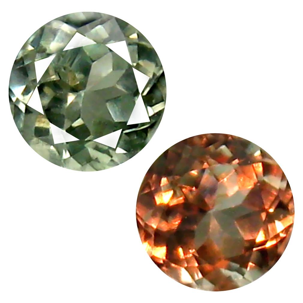 0.41 ct Supreme Round Cut (5 x 4 mm) Un-Heated Green Alexandrite Natural Gemstone