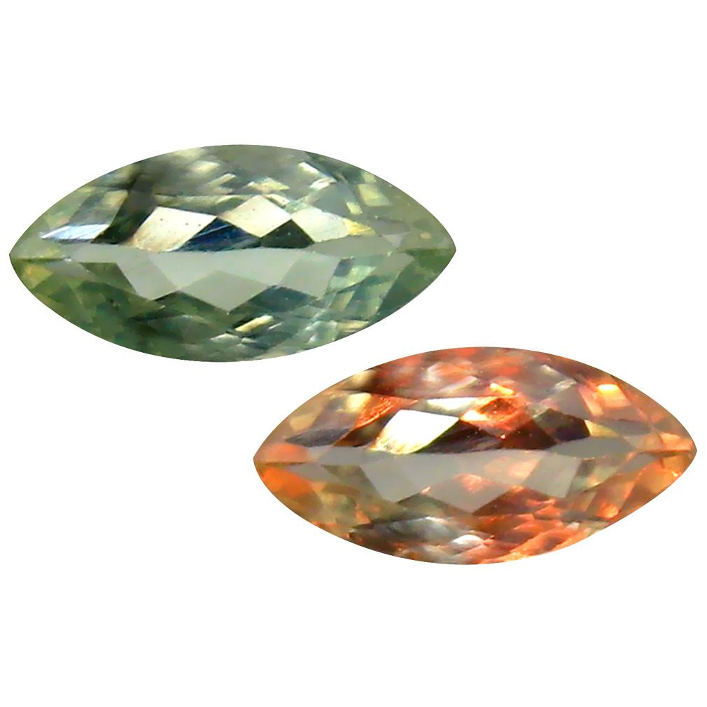 0.66 ct Amazing Marquise Cut (8 x 4 mm) Un-Heated Green Alexandrite Natural Gemstone