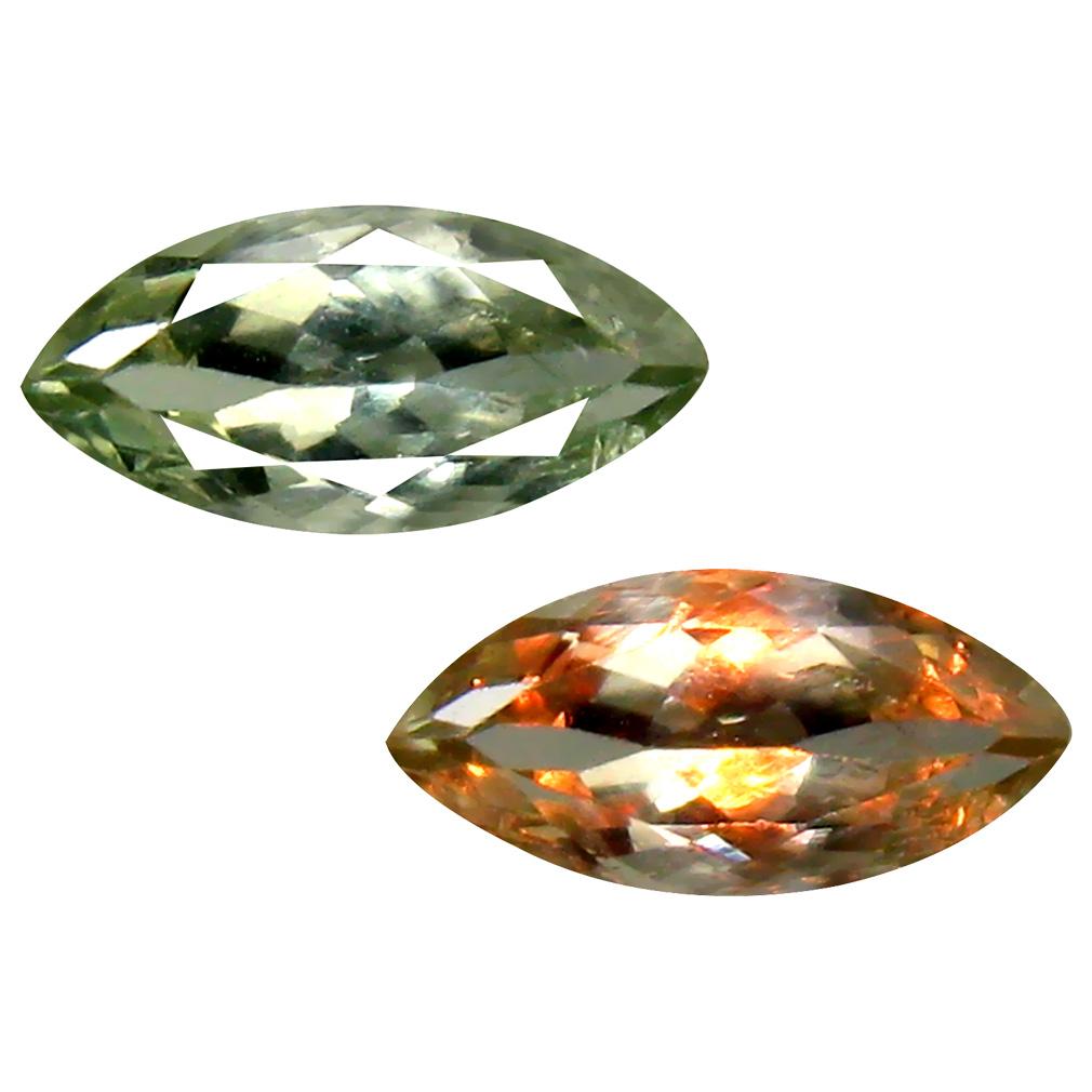 0.72 ct Superior Marquise Cut (8 x 4 mm) Un-Heated Green Alexandrite Natural Gemstone