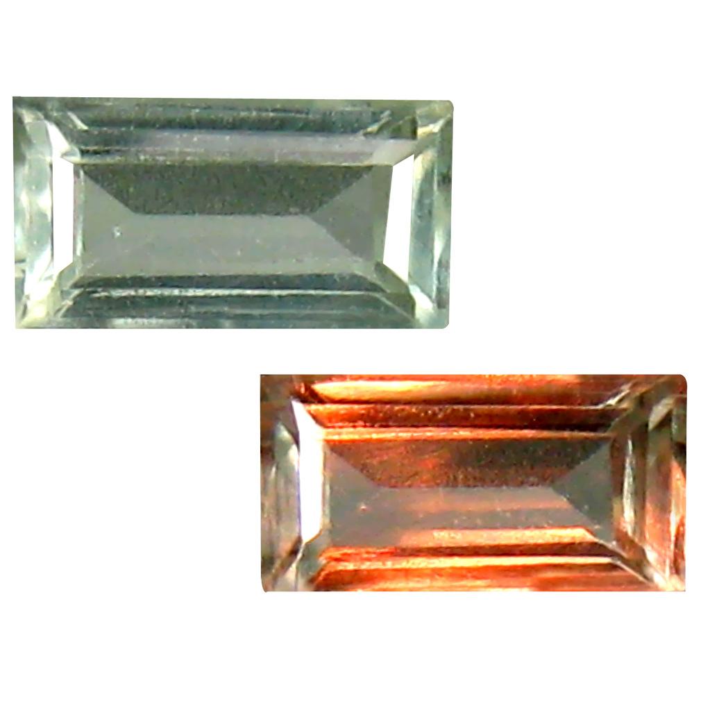 0.45 ct Extraordinary Octagon Cut (6 x 3 mm) Un-Heated Green Alexandrite Natural Gemstone
