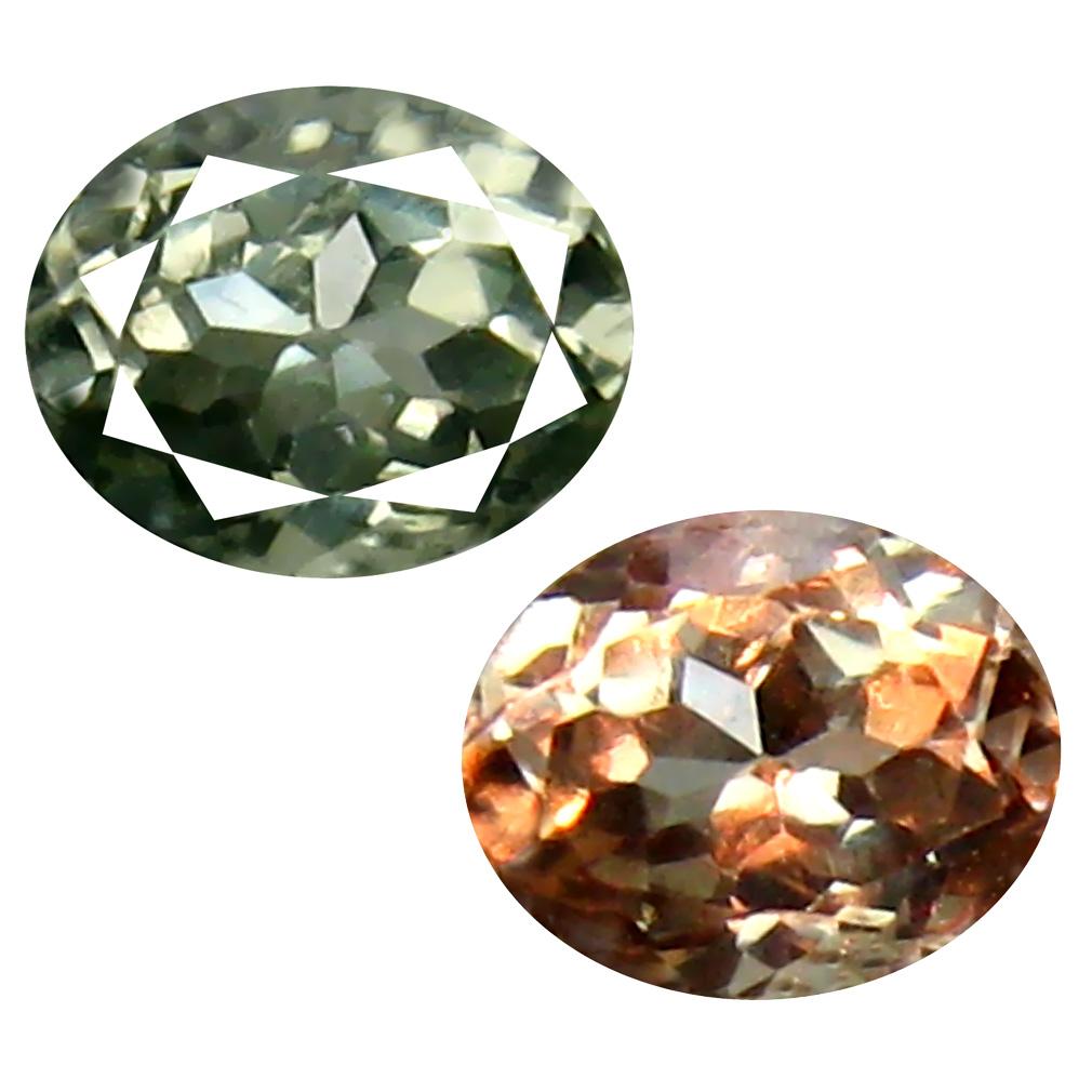 0.46 ct Extraordinary Oval Cut (5 x 4 mm) Un-Heated Green Alexandrite Natural Gemstone