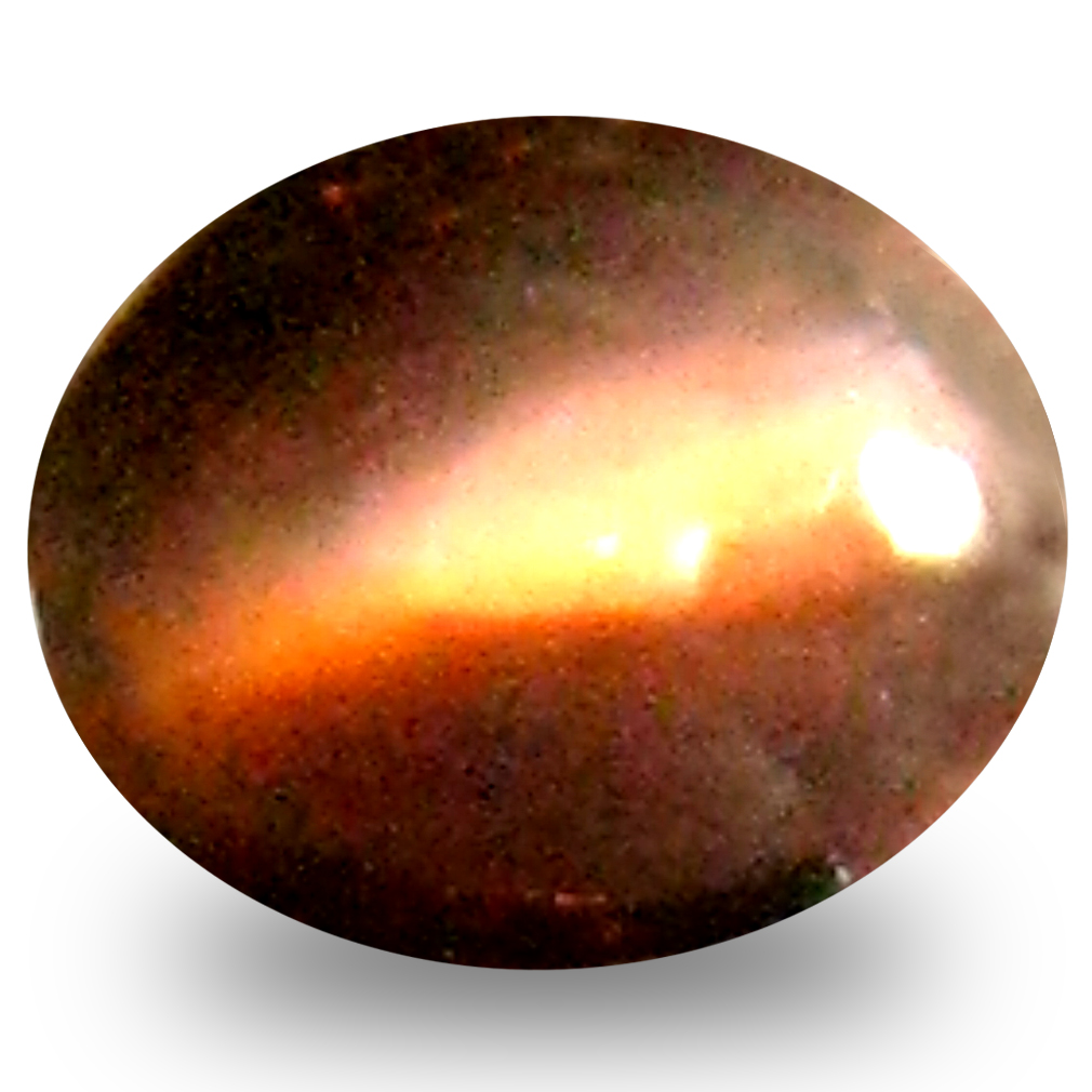 0.39 ct Shimmering Oval Cabochon Shape (5 x 4 mm) Un-Heated Color Change Alexandrite Cat's Eye Natural Gemstone