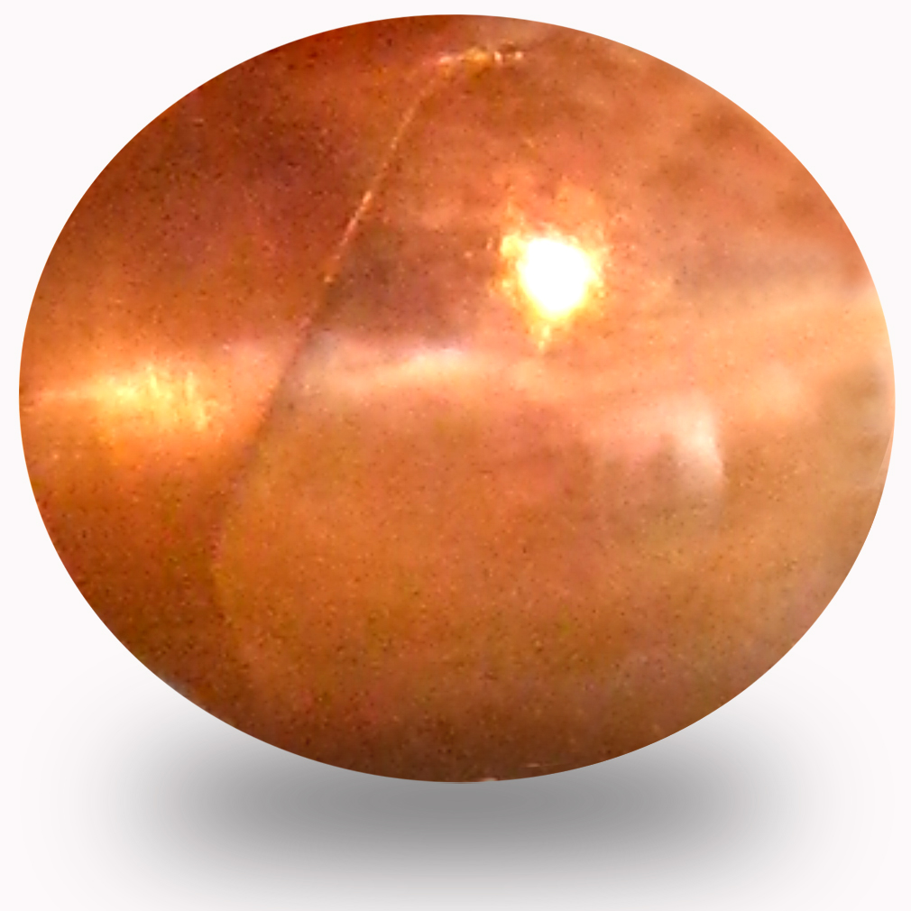 0.78 ct Lovely Cabochon Shape (6 x 5 mm) Un-Heated Color Change Alexandrite Cat's Eye Natural Gemstone