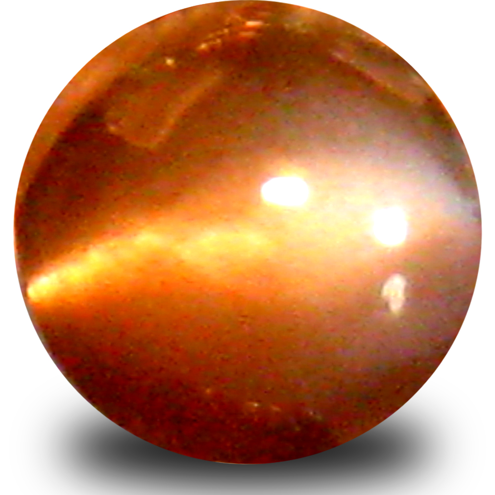 0.56 ct Charming Cabochon Shape (5 x 5 mm) Un-Heated Color Change Alexandrite Cat's Eye Natural Gemstone