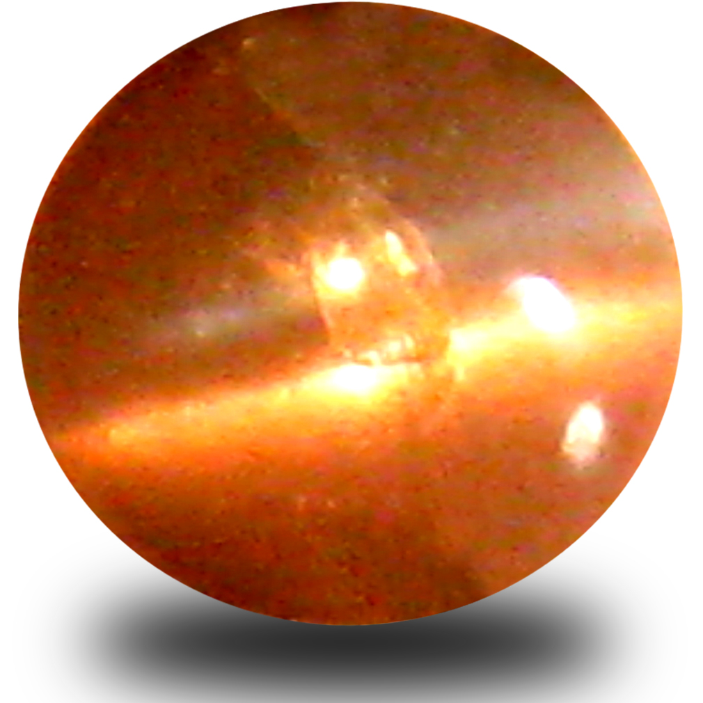 0.35 ct Eye-opening Cabochon Shape (5 x 4 mm) Un-Heated Color Change Alexandrite Cat's Eye Natural Gemstone