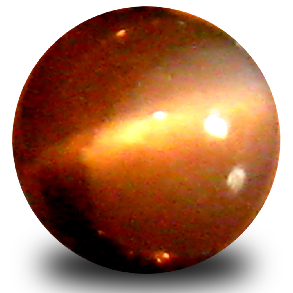 0.45 ct Great looking Cabochon Shape (4 x 4 mm) Un-Heated Color Change Alexandrite Cat's Eye Natural Gemstone