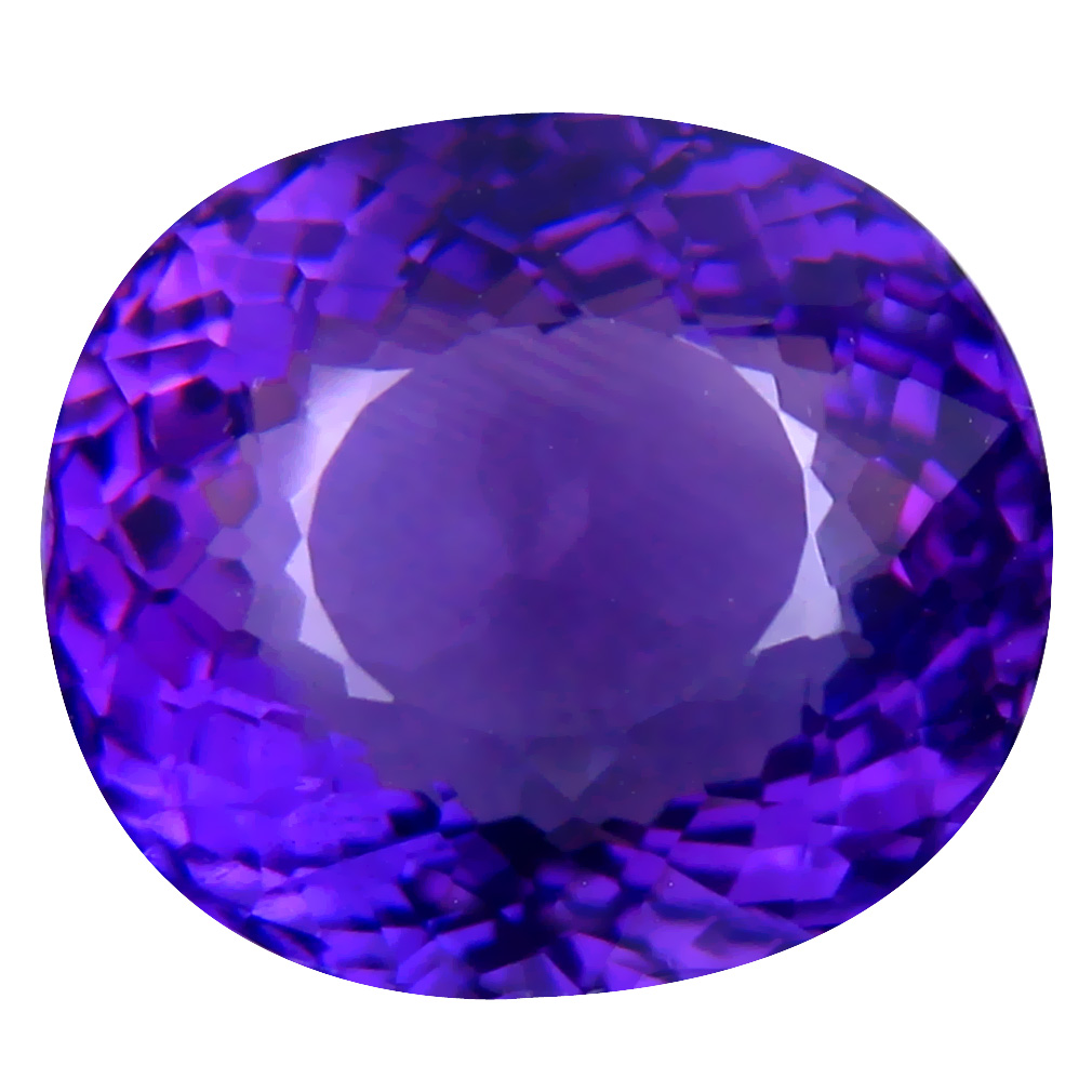 9.50 ct Pretty Oval (14 x 12 mm) Unheated / Untreated Uruguay Purple Amethyst Loose Gemstone