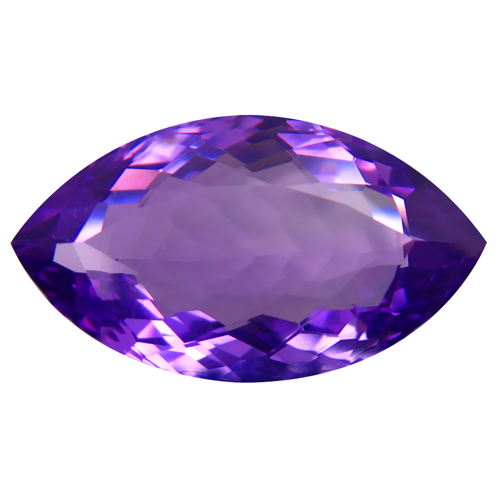 8.64 ct Superior Marquise (20 x 11 mm) Unheated / Untreated Uruguay Purple Amethyst Loose Gemstone