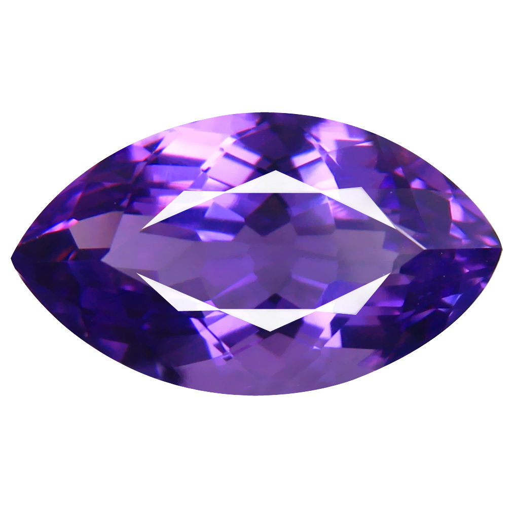 6.24 ct Marvelous Marquise (16 x 9 mm) Unheated / Untreated Uruguay Purple Amethyst Loose Gemstone
