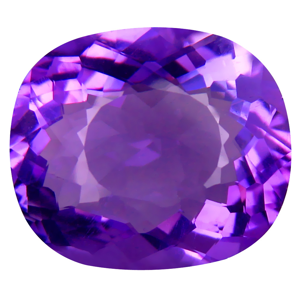 8.29 ct Lovely Cushion (15 x 13 mm) Unheated / Untreated Uruguay Purple Amethyst Loose Gemstone