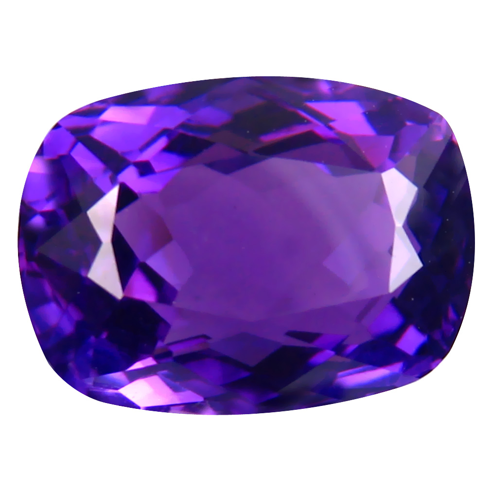 6.52 ct Charming Cushion (13 x 9 mm) Unheated / Untreated Uruguay Purple Amethyst Loose Gemstone