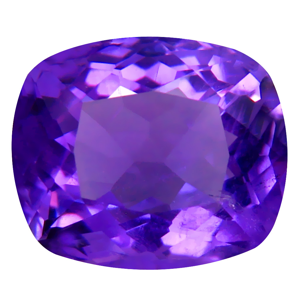 5.94 ct Spectacular Cushion (13 x 11 mm) Unheated / Untreated Uruguay Purple Amethyst Loose Gemstone