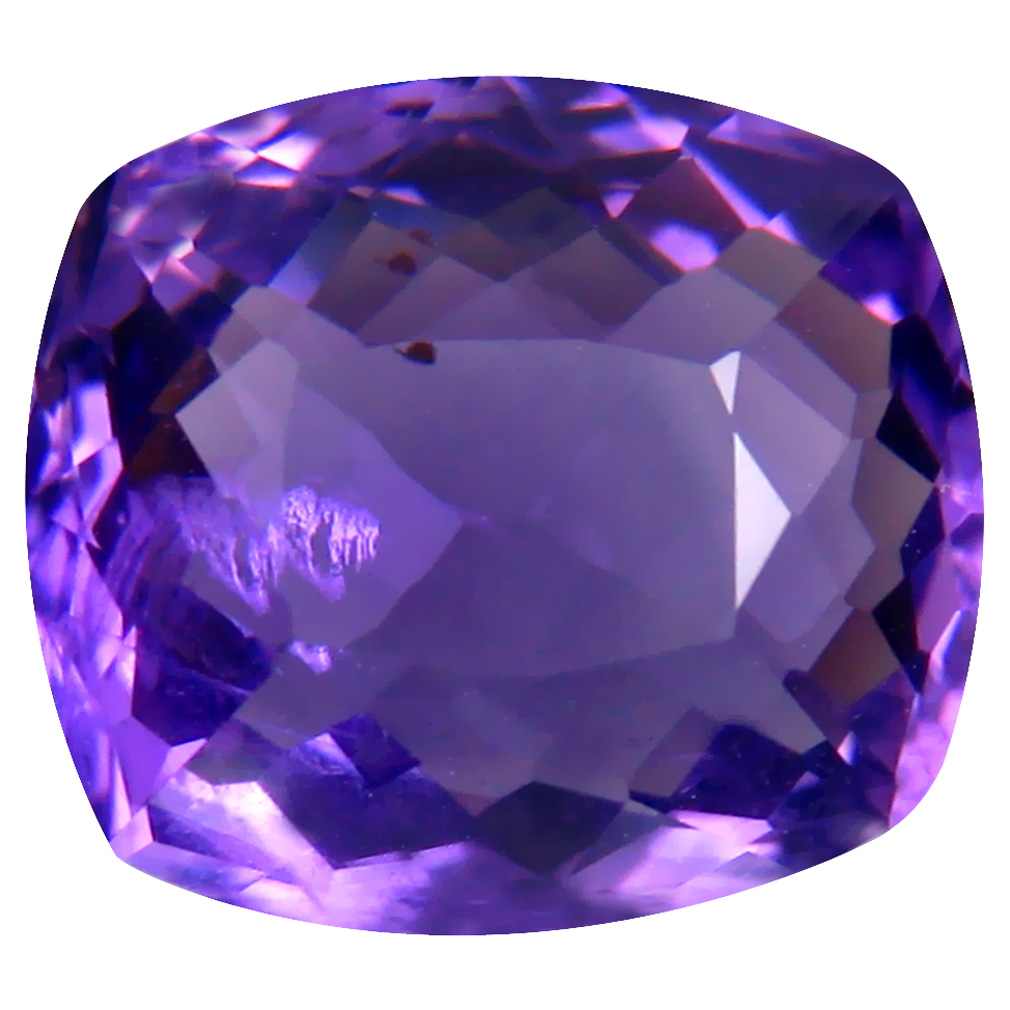 6.08 ct Five-star Cushion (13 x 11 mm) Unheated / Untreated Uruguay Purple Amethyst Loose Gemstone