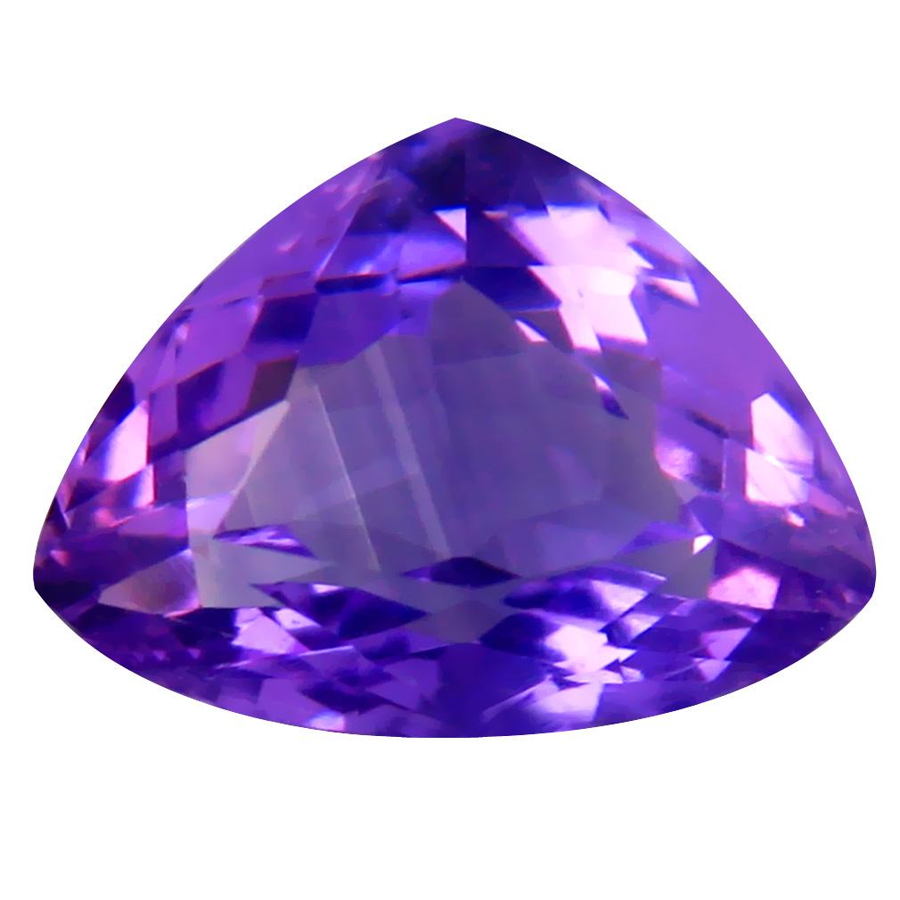4.09 ct Pretty Triangle (12 x 9 mm) Unheated / Untreated Uruguay Purple Amethyst Loose Gemstone