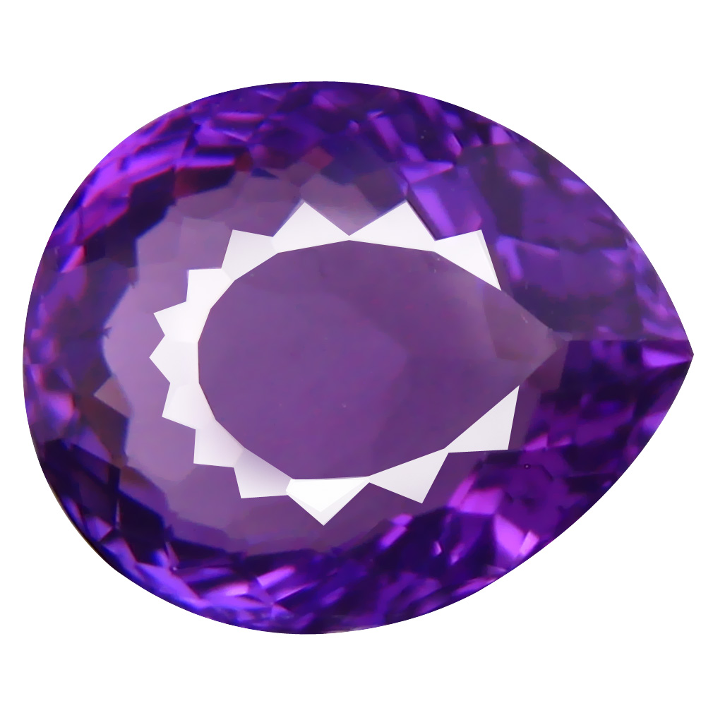 4.47 ct Resplendent Pear (12 x 10 mm) Unheated / Untreated Uruguay Purple Amethyst Loose Gemstone