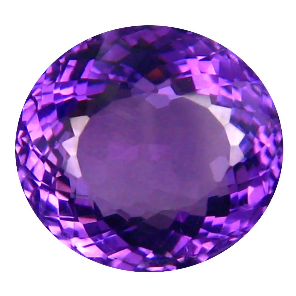 4.25 ct Unbelievable Oval (11 x 10 mm) Unheated / Untreated Uruguay Purple Amethyst Loose Gemstone